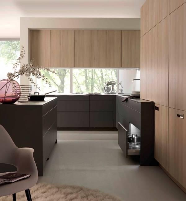 Интересный дизайн кухни в стиле минимализм - фото интерьера