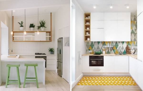 Просто, но оригинальный и стильный дизайн кухни