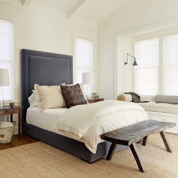 Красивое сочетание цветов в интерьере спальни