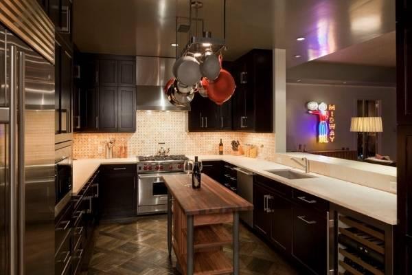 Кухонная утварь из нержавеющей стали - подборка фото в интерьере