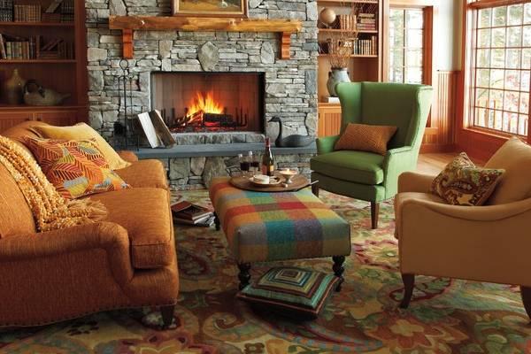 Лучшие осенние украшения для интерьера - фото гостиной