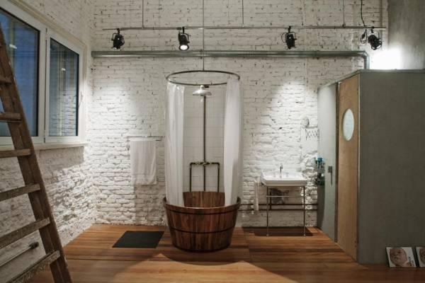 Как выбрать светильники в стиле лофт в ванную комнату - фото