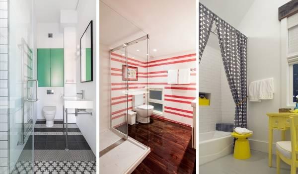 Стильные и яркие интерьеры ванных комнат в стиле лофт