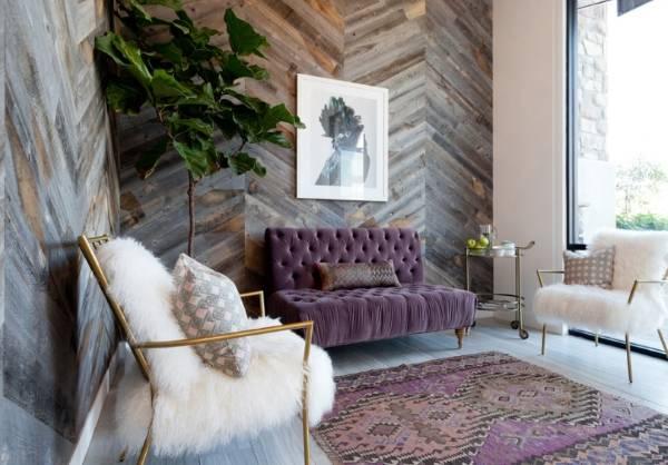 Деревянные панели для внутренней отделки стен - фото с имитацией старины