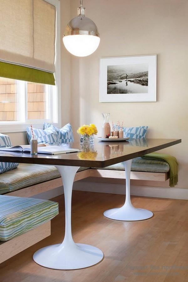 дизайн обеденной зоны на кухне фото