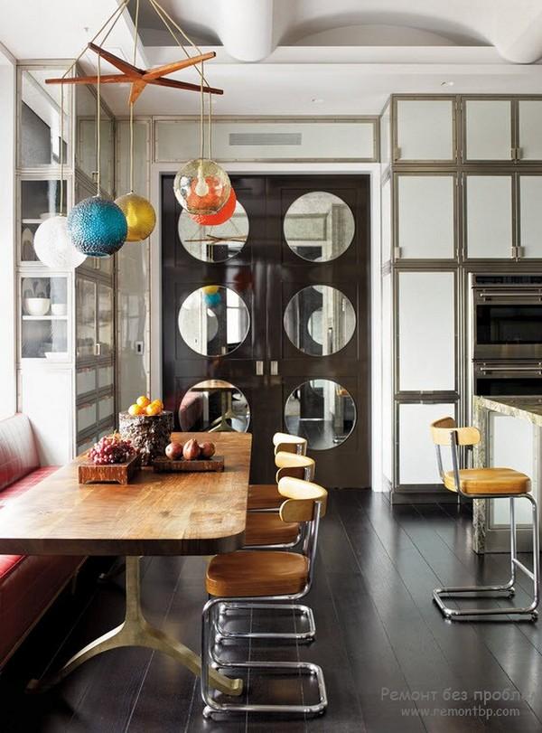 дизайн обеденной зоны на кухне на фото