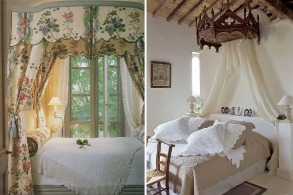 Кровать в стиле прованс с балдахином - фото идей
