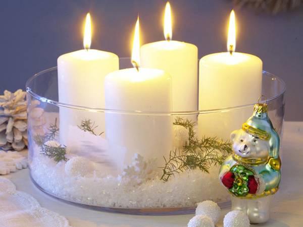 Центральное украшение для новогоднего стола - идеи