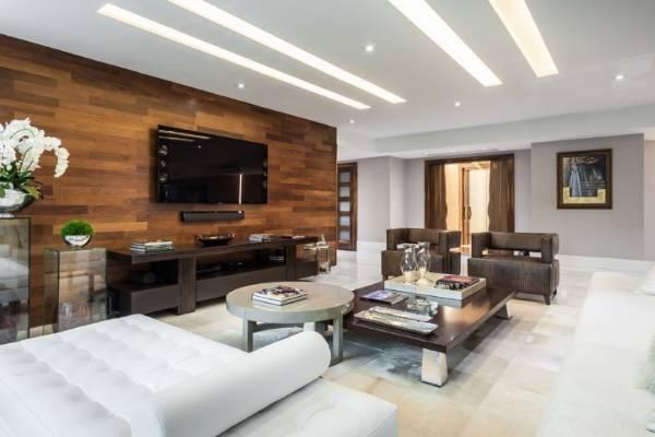 Варианты отделки стен деревом - ламинат в дизайне интерьера