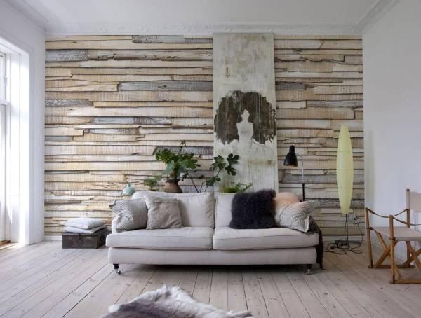 Отделка стен под дерево - стеновые панели в интерьере
