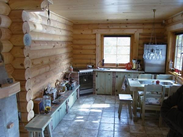 Интерьер деревянного дома - фото русской избы