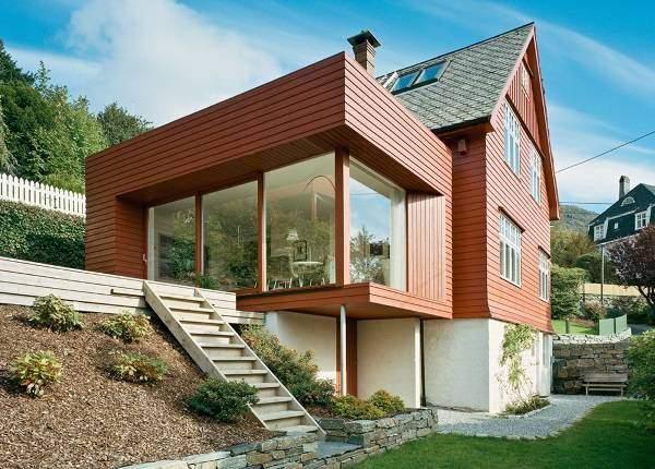 Красивые деревянные дома в стиле хай тек