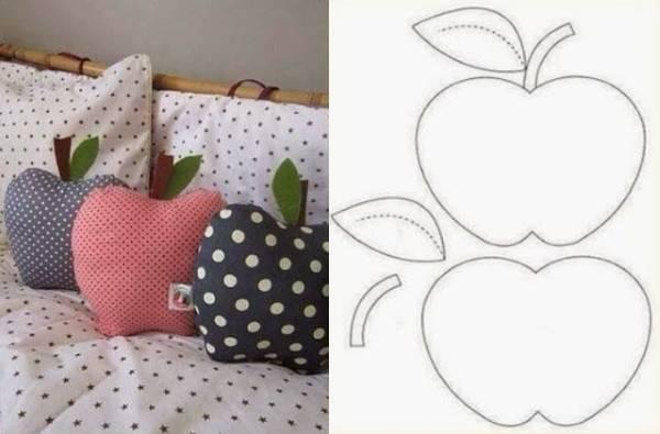Выкройка, чтобы сделать диванные подушки своими руками
