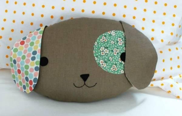 Как сшить диванные подушки своими руками - милая собачка