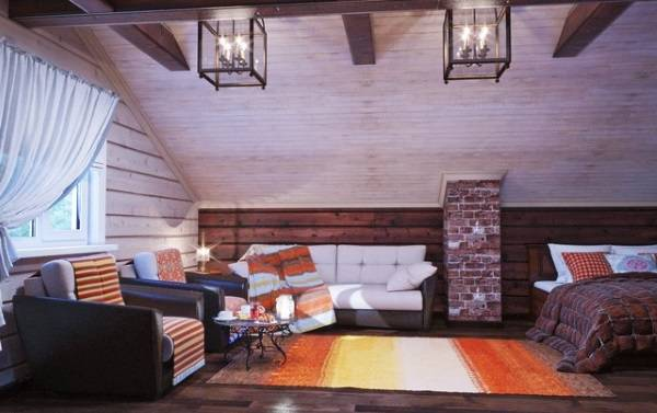 Дизайн интерьера деревянного дома внутри - фото в скандинавском стиле