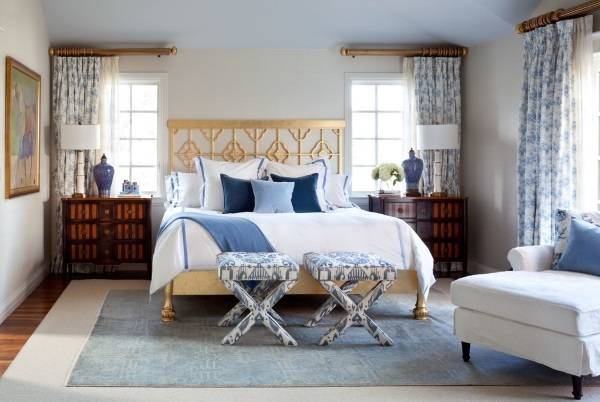 Шторы для спальни - фото новинки в стиле прованс
