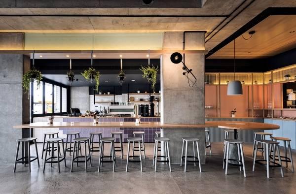 Интерьер кафе бара Blackwood Pantry в современном стиле лофт