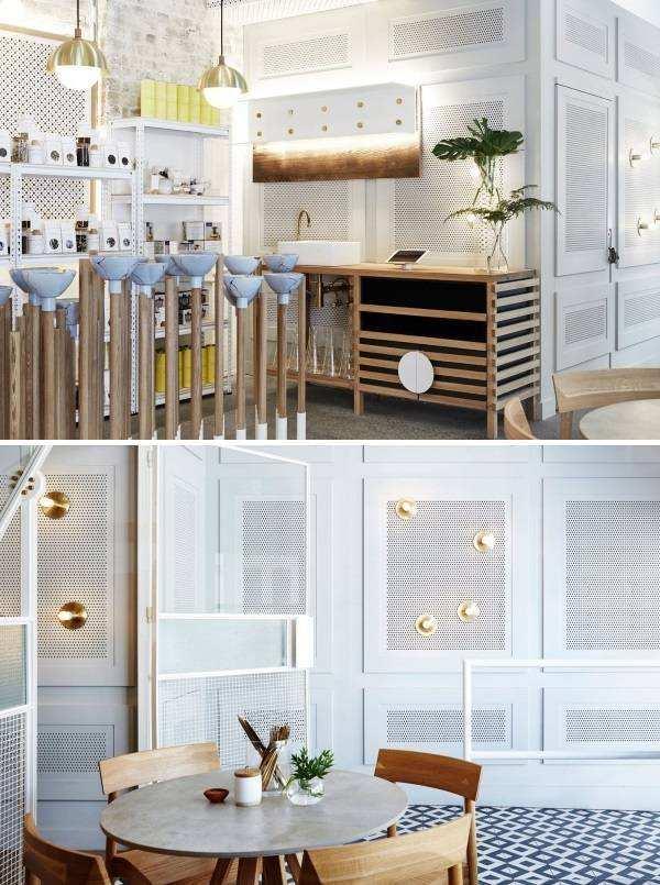 Дизайн кафе баров в восточном японском стиле
