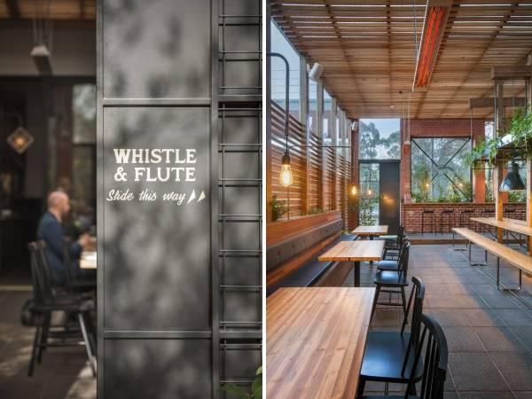 Дизайн современного кафе Whistle Flute