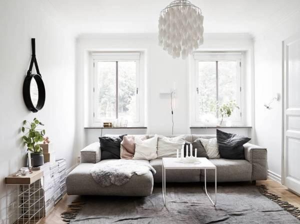 Скандинавский стиль в интерьере квартиры 40 кв. м. - фото