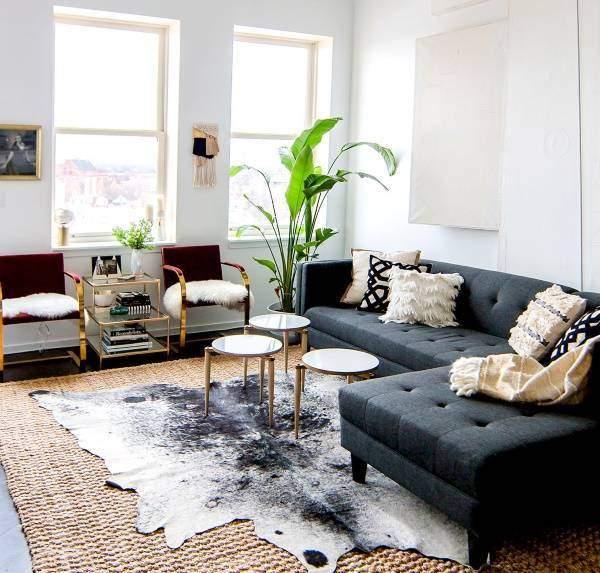 Популярные стили в интерьере гостиной - урбан дизайн