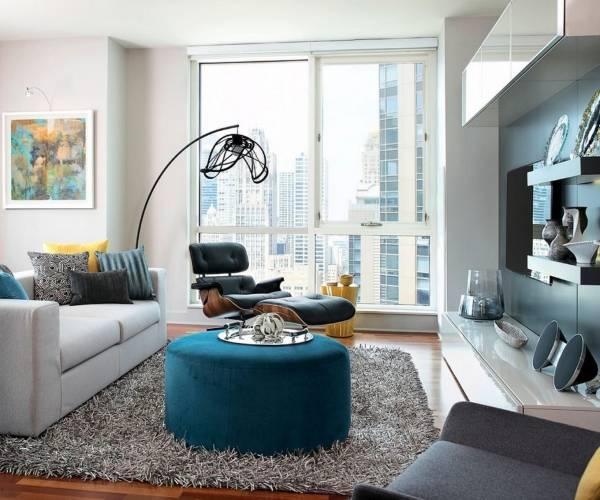 Современный городской стиль в интерьере - фото в гостиной