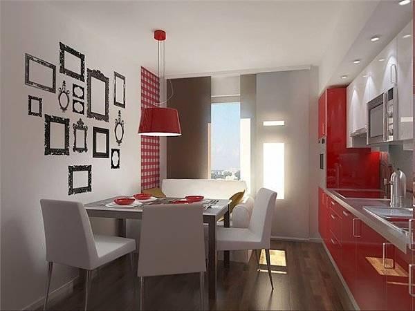 Оформление обеденной зоны на кухне - фото дизайн стен