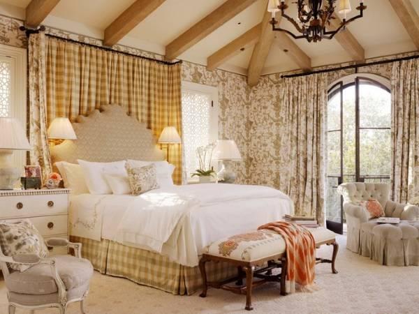 Обои в стиле прованс для спальни - фото в дизайне интерьера