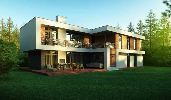 Хайтек дом - дизайн проект фасада