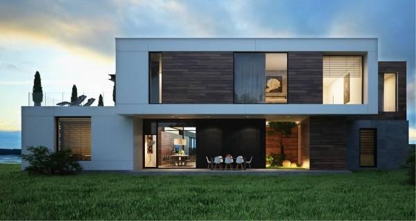 Большие частные дома в стиле хай тек - подборка фото
