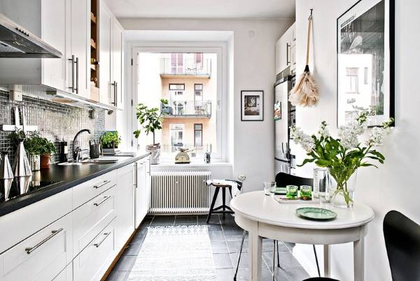 Дизайн кухни в двухкомнатной квартире в скандинавском стиле