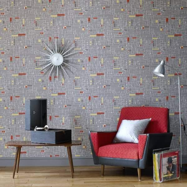 Модные обои для стен 2016 с геометрическими узорами