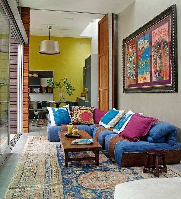 Декор интерьера частного дома в индийском стиле
