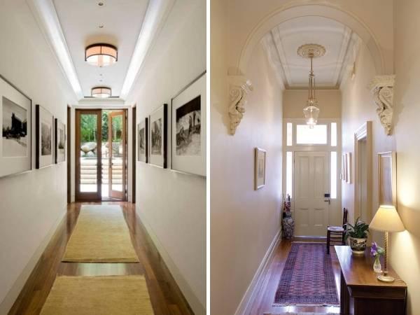 Маленький узкий коридор - дизайн и фото в частных домах