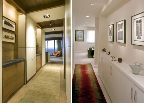 Встроенный шкаф в узкий коридор - компактная мебель
