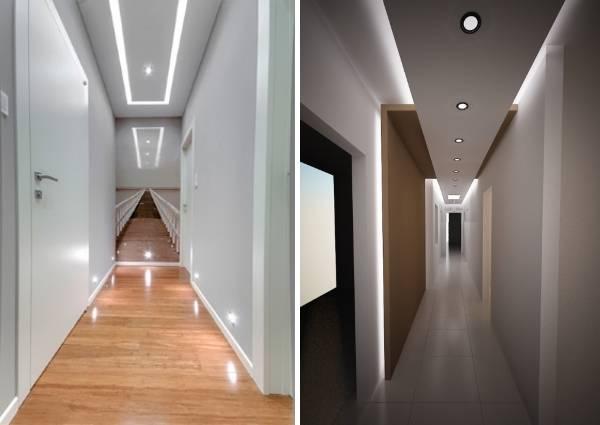 Светодиодная подсветка узкого коридора