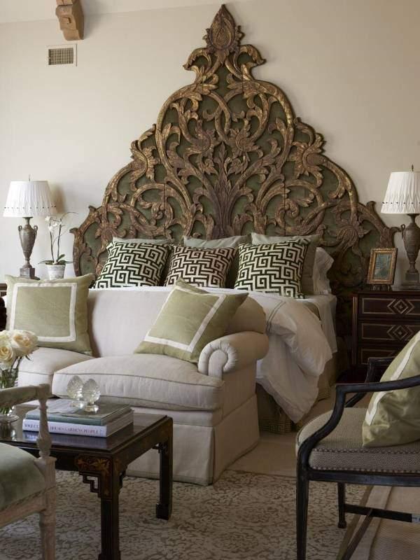 Современный индийский стиль в интерьере спальни
