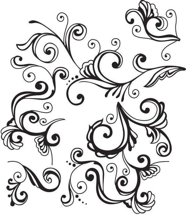 Узоры в индийском стиле - трафарет для росписи