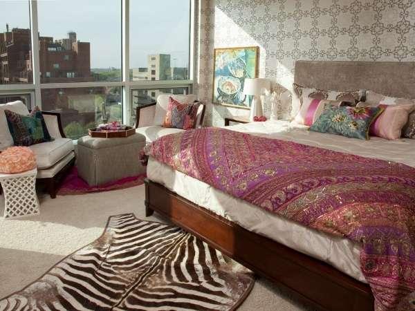 Индийский стиль в интерьере спальни - подборка фото