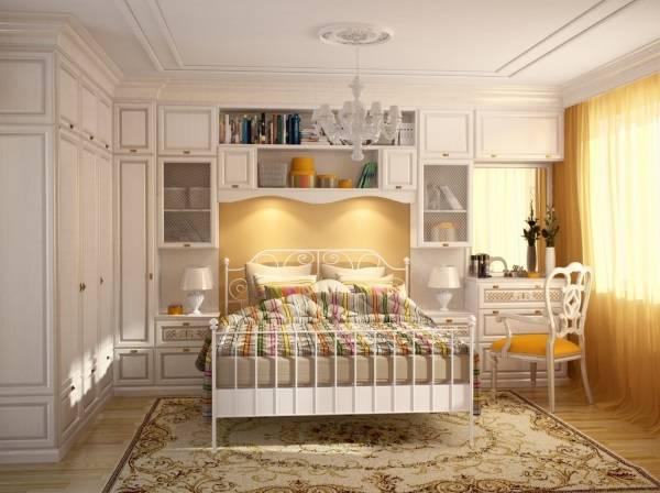 Шкаф в спальню в стиле прованс - встроенная мебель фото
