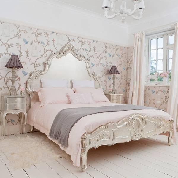Как выбрать шторы и обои в стиле прованс для спальни - фото