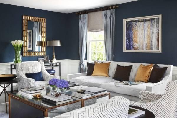 Как подобрать шторы к обоям - фото в интерьере гостиной