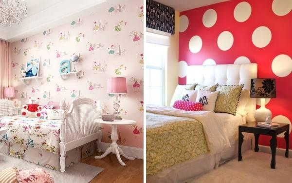 Каки обои лучше в комнату для подростка девочки - фото