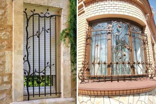 Кованые металлические решетки на окна - лучшие фото