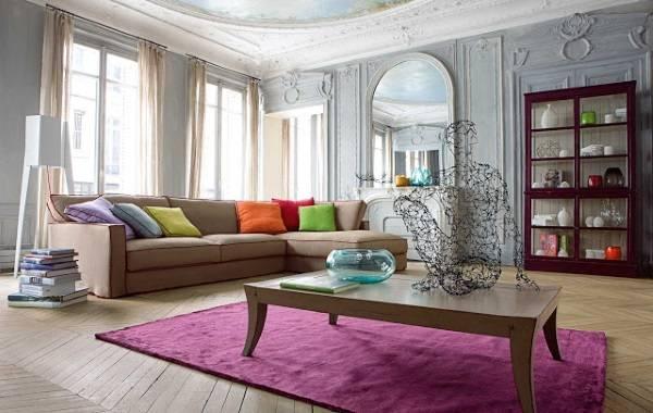 Фото ковров на пол - розовый бербер