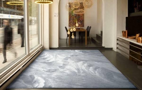Современные ковры в гостиную - рисунок антиграфика
