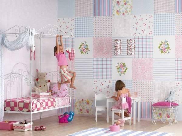 Красивые обои в детскую комнату для девочек - фото в интерьере