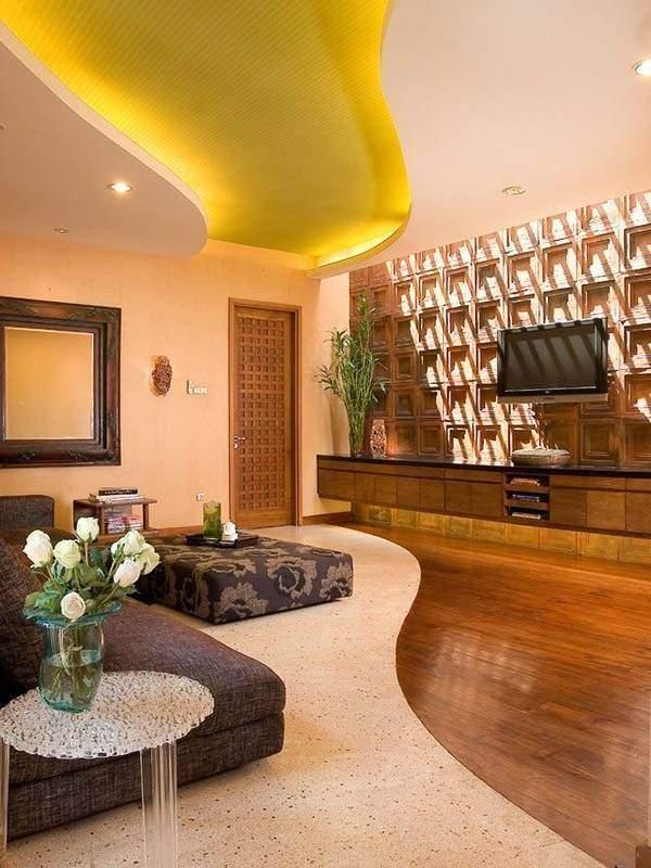 Потолки с подсветкой светодиодной - фото в гостиной