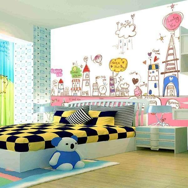 Креативные обои в комнату для подростка девочки для рисования