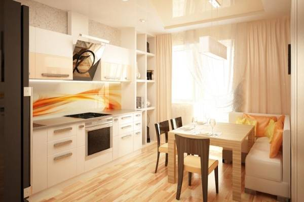 Угловые обеденные зоны для кухни - фото в современном стиле